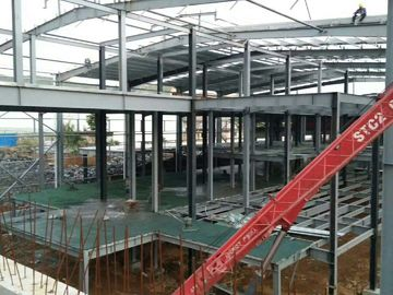 ประเทศจีน Multi - Floor Building Steel Frame Fabrication With Aluminum Alloy Window\ ผู้จัดจำหน่าย